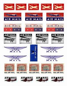 Airmail stamps random creativity for Free postage stickers