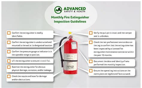 Check fire extinguishers for the following: Checklist | Advanced Safety & Health