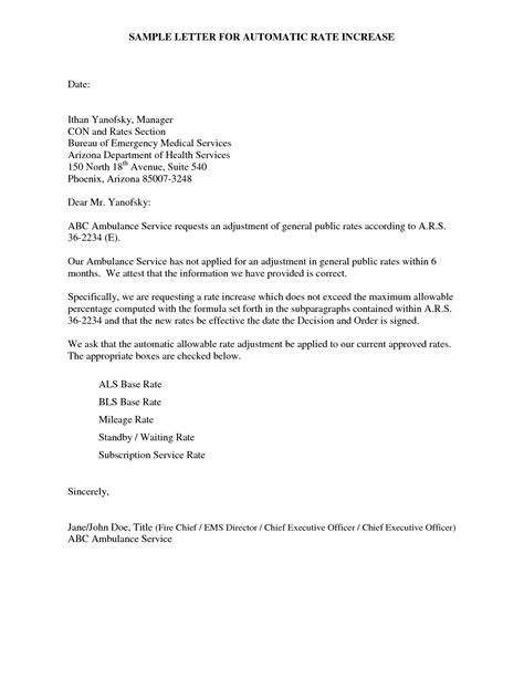 write  letter  customers informing  rate