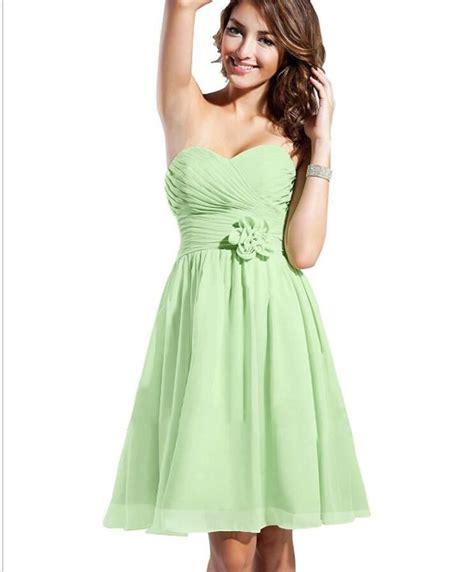 shoulder mint green chiffon short homecoming dresses
