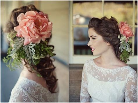 vintage wedding dress floral accessory inspiration