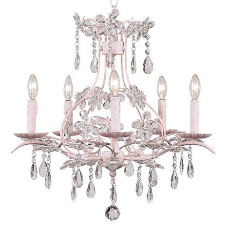 cinderella pink chandelier