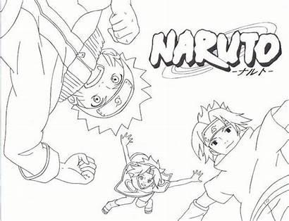 Naruto Team Coloring Pages Line Desenho Devientart