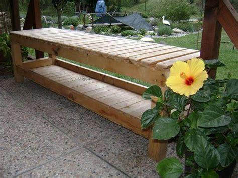 diy pallet bench  cushions  pallets