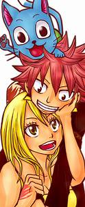 Natsu Lucy and Happy by Quantia13 on DeviantArt