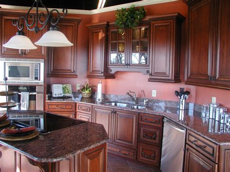 brown mahogany kitchen cabinets mahogany wood