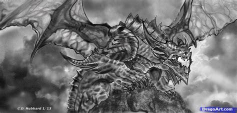 sketch  realistic dragon step  step dragons
