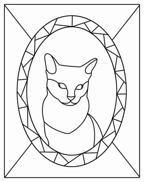 Coloring Templates by Stained Glass Window Template Coloring Home