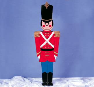 christmas outdoor toy soldier wood yard art lawn by