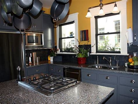 bloombety dark blue paint color for kitchen cabinets