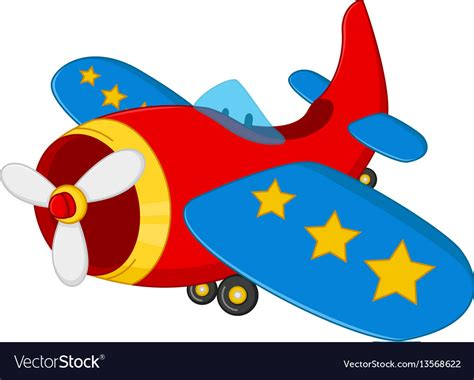 Cartoon Air Plane Royalty Free Vector Image