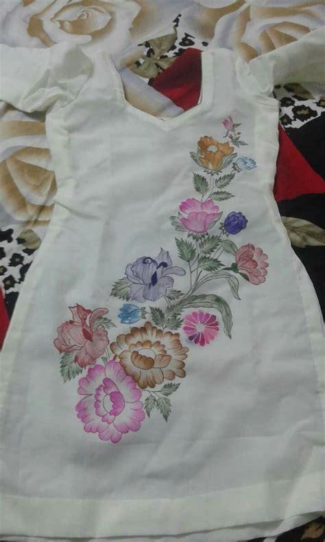 pin  rajalaxmi biswal  salwar saree painting fabric