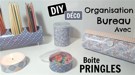 diy d馗o chambre 7 diy organisation chambre bureau boite pringles my crafts and diy projects