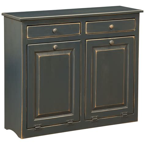 double trash recycling bin cabinet wood dcor design double cabinet with trash bin wayfair