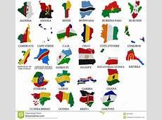 Le Drapeau De Pays De L'Afrique Trace Part1 Illustration