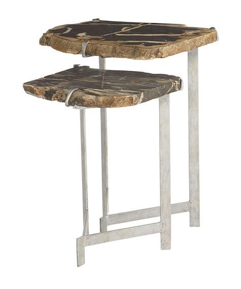 bernhardt petrified wood side table nesting tables bernhardt