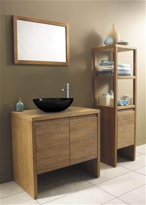 meuble salle de bain bois exotique peinture faience
