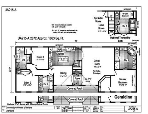 commodore aurora geraldine floor plans  valley homes