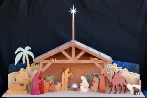 holiday nativity  wood scrollsaw woodworking plan