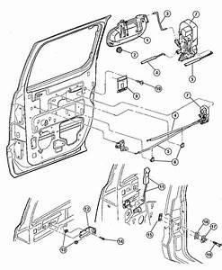 2000 Dodge Durango Latch  Right  Rear Door  Power  W  Power