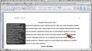 Formatting APA Style Body Using Headings MS Word For Mac 2011 What Is Wrong With My Running Head Understanding Apa Doent Format APA Format Styles For Typing Papers In APA Style Reference Point Free Apa Format Template For Mac OwcNT7ys