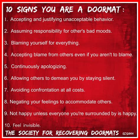 signs    doormat emotional abuse doormat