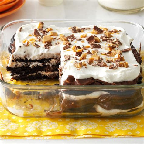 easy to prepare desserts chocolate toffee icebox cake recipe taste of home