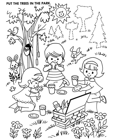picnic coloring pages picnic coloring page coloring home