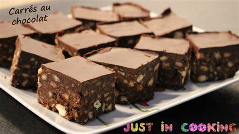 aujourd hui je cuisine recette de carrés au chocolat sans cuisson