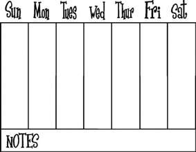 Printable Week Calendar Template