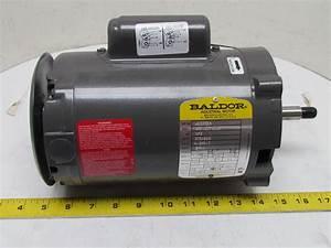 Baldor Electric Motor 1  3 Hp 1ph Single Phase 56j Frame