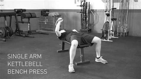 kettlebell press bench single arm