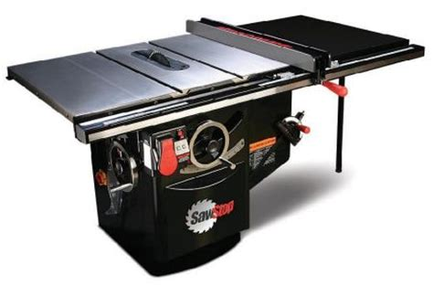 table saw stops dog or not sawstop s safe table saw toolmonger