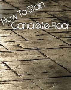 Diyrectorycom how to stain concrete floor for How to varnish parquet flooring