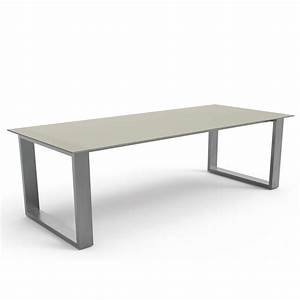 Pied De Table Inox : table design en inox et verre tremp gris essence sign e ~ Dailycaller-alerts.com Idées de Décoration