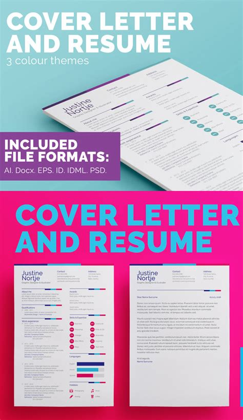 new modern cv resume templates with cover letter design graphic design junction