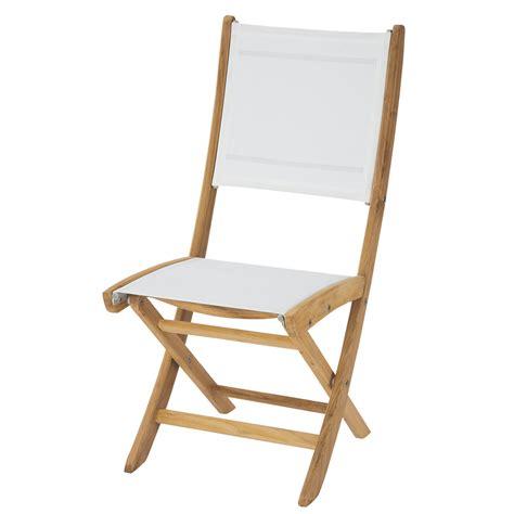 chaises blanche chaise de jardin pliante blanche teck maisons du monde