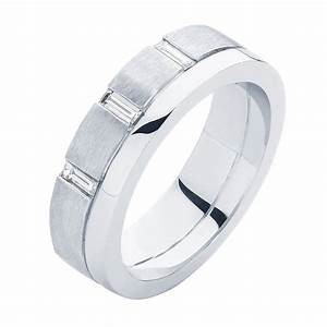 Mens diamond white gold wedding ring baguette mens for Mens wedding rings baguette diamonds