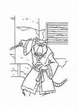 Splinter Turtles Tartarughe Mutant Parentune Disegnidacolorare sketch template