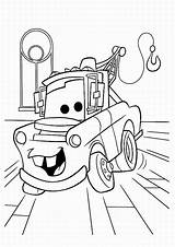 Coloring Cars Pages Colouring Printable Print Disney Movie Mater Pixar Truck Characters sketch template
