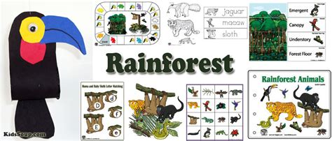 in the jungle preschool lesson plans and activities 595 | Rainforest activities crafts 1