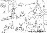 Animals Coloring Pages Rabbits Pet Colouring Bunny Puppy Treehut Giving Carrots Mother Child sketch template