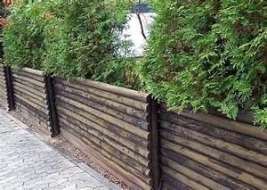 Holzzaun Selber Bauen : einfacher zaun aus rundholzstangen leicht nachzubauen ~ Orissabook.com Haus und Dekorationen