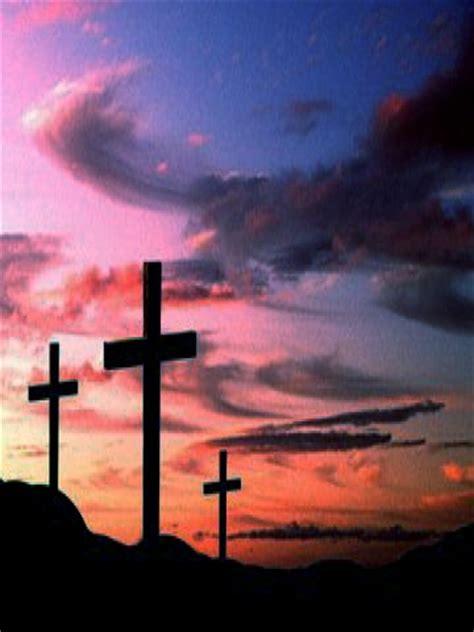 Three Crosses At Sunset Wallpaper  Iphone Blackberry