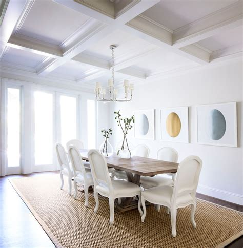 Coffered Ceiling Dining Room  Transitional  Dining Room