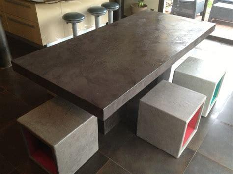 fabriquer un comptoir de cuisine en bois cubes multifonctions en béton ciré table beton cire com