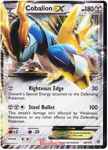 Cobalion EX - Plasma Storm #93 Pokemon Card