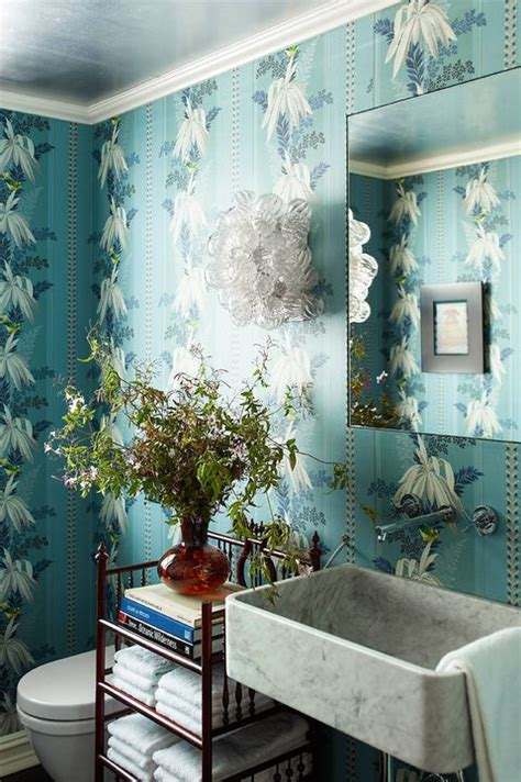 bathroom wallpaper ideas  beautiful bathroom wall
