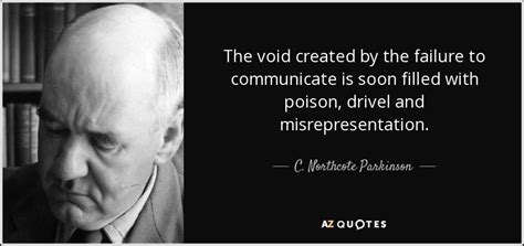 northcote parkinson quote  void created