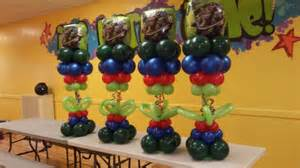 center table decorations turtle balloon centerpiece